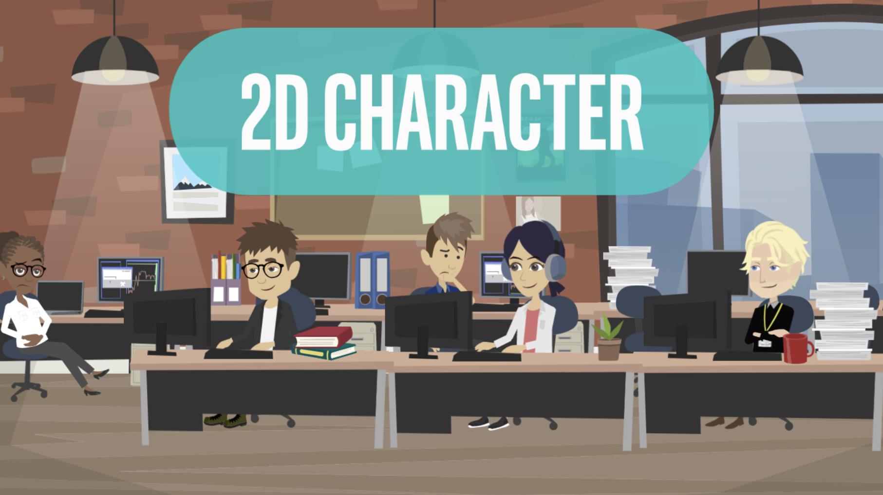 2D Character Explainer Videos